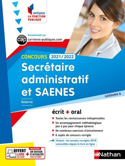 CONCOURS SECRETAIRE ADMINISTRATIF ET SAENES  -  CATEGORIE B (EDITION 20212022) COLLECTIF CLE INTERNAT