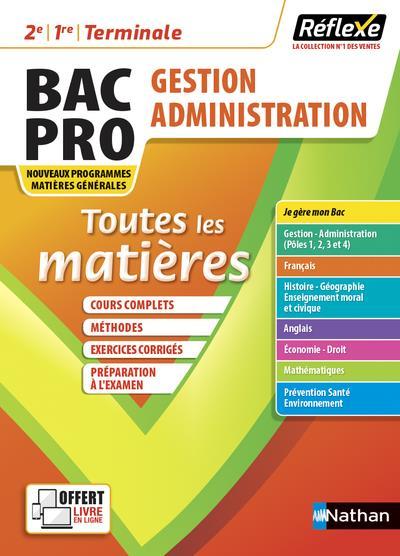 MEMOS REFLEXES T.12  -  TOUTES LES MATIERES : BAC PRO GESTION ADMINISTRATION (EDITION 2021) COLLECTIF CLE INTERNAT