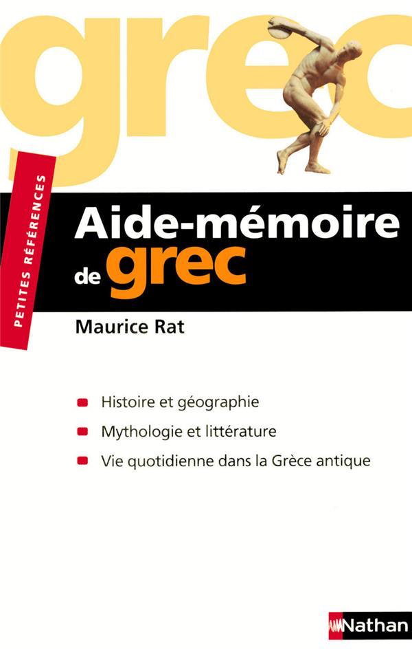 AIDE-MEMOIRE DE GREC RAT MAURICE NATHAN