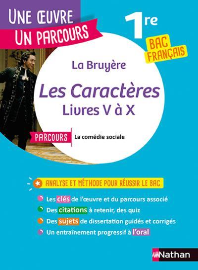 LA BRUYERE, LES CARACTERES : LIVRES V A X LA BRUYERE, JEAN  DE CLE INTERNAT