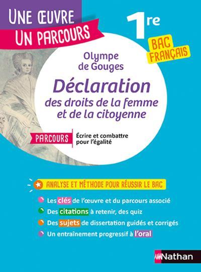 OLYMPE DE GOUGES, DECLARATION DES DROITS DE LA FEMME ET DE LA CITOYENNE GOUGES, OLYMPE DE CLE INTERNAT
