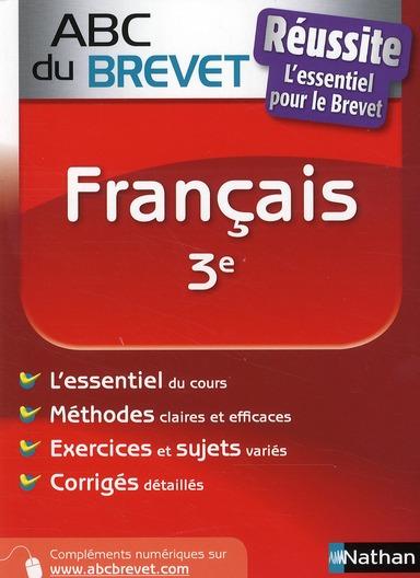 ABC BREVET REUSSITE FRANCAIS 3 CAZANOVE CECILE DE NATHAN