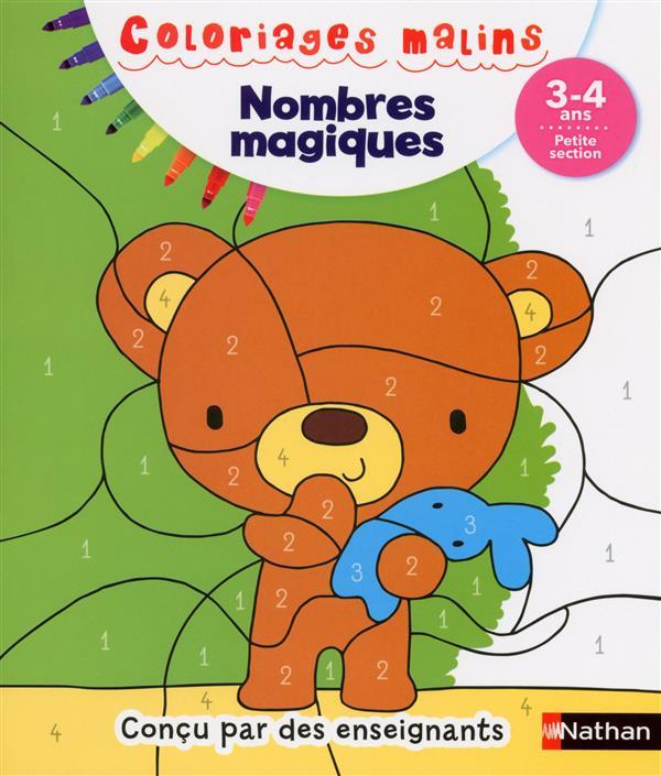 NOMBRES MAGIQUES PS 3/4 ANS - COLORIAGES MA LINS