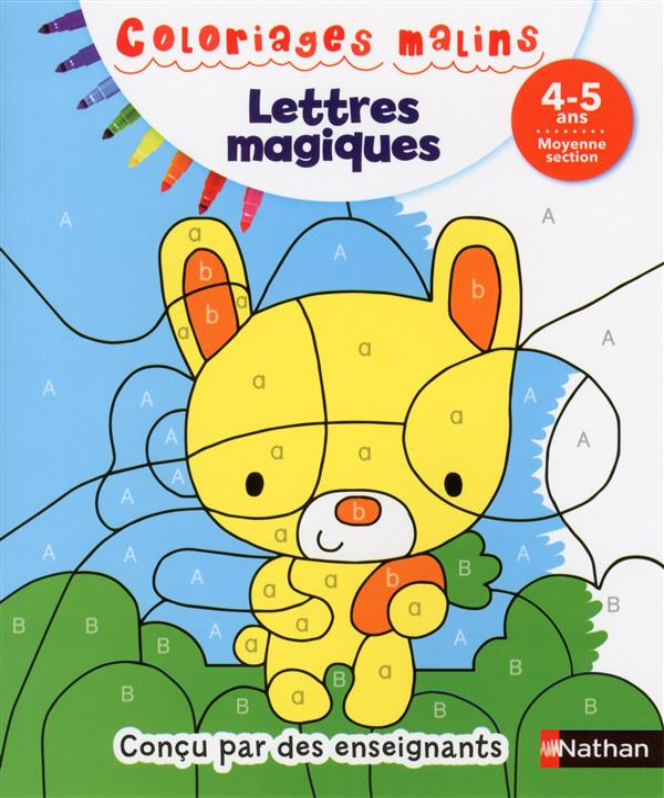 LETTRES MAGIQUES MS 4/5 ANS - COLORIAGES MALINS