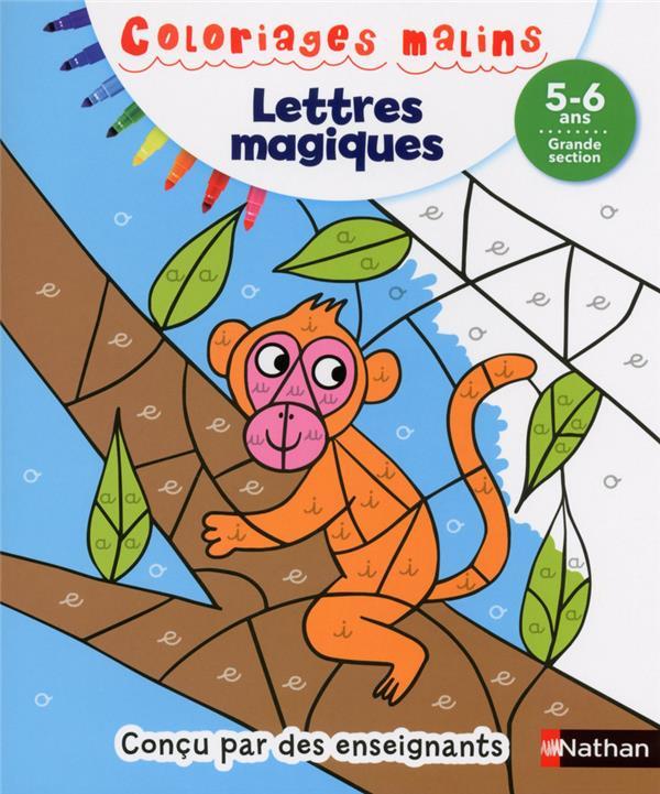 LETTRES MAGIQUES GS 5/6 ANS - COLORIAGES MALINS