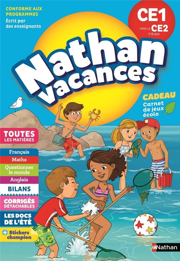 NATHAN VACANCES PRIMAIRE CE1 VERS LE CE2 78 ANS COLIN/BEIGEL/ROCHER CLE INTERNAT
