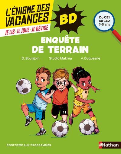 L'ENIGME DES VACANCES PRIMAIRE T.00058  -  ENQUETE DE TERRAIN  -  DU CE1 AU CE2  -  78 ANS (EDITION 2021) BOURGOIN, DELPHINE  CLE INTERNAT