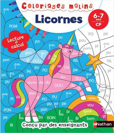 COLORIAGES MALINS  -  LICORNES  -  67 ANS