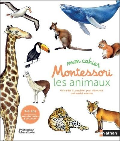 MON CAHIER MONTESSORI - LES ANIMAUX DES CONTINENTS