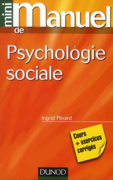 MINI MANUEL DE PSYCHOLOGIE SOC