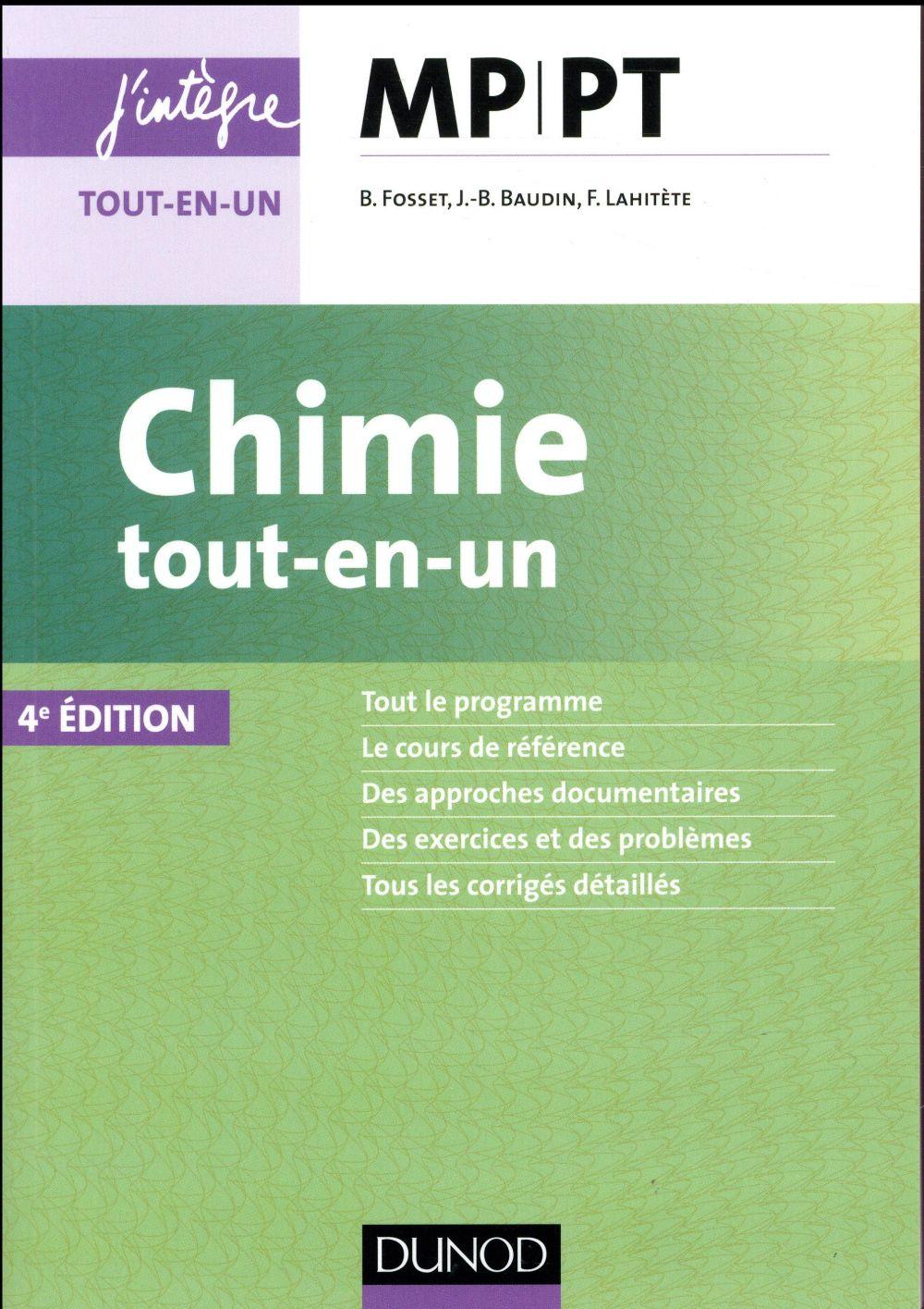 CHIMIE TOUT EN UN MP PT   4E ED