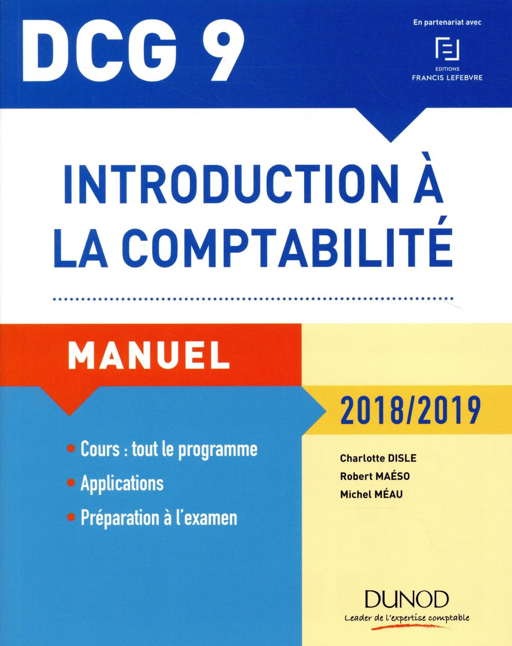 DCG 9   INTRODUCTION A LA COMPTABILITE 20182019   MANUEL