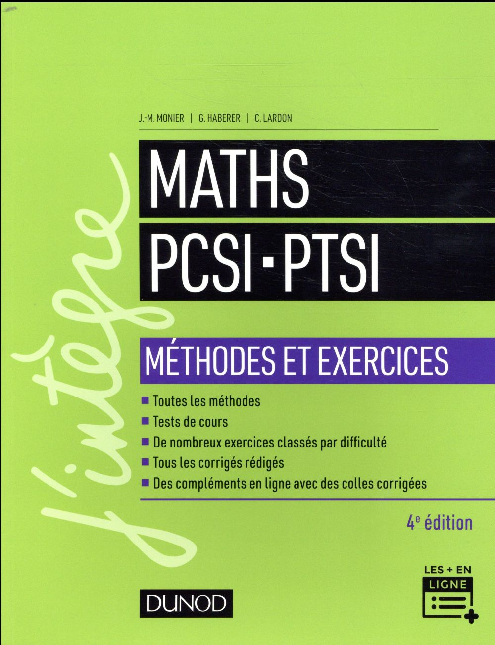 MATHS PCSI PTSI   METHODES ET EXERCICES  4E ED.
