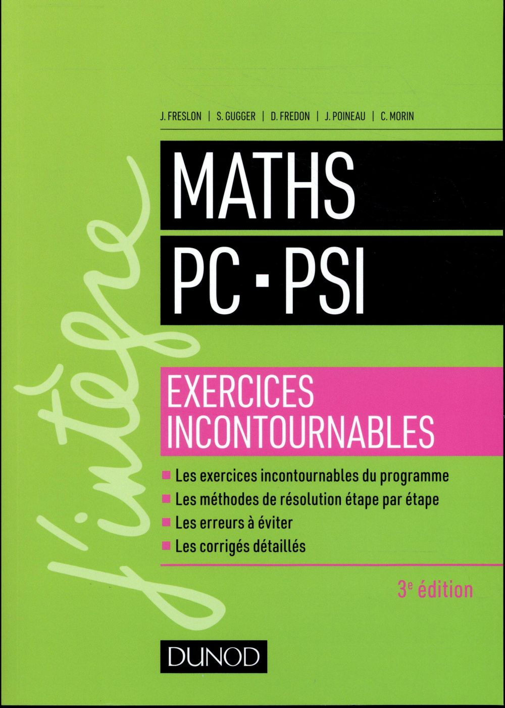MATHS PC PSI   EXERCICES INCONTOURNABLES   3ED.