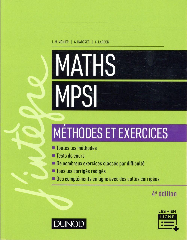 MATHS MPSI   METHODES ET EXERCICES   4E ED.