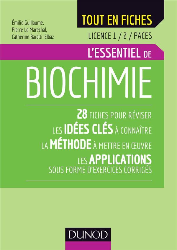 BIOCHIMIE   LICENCE 1  2  PACES   L'ESSENTIEL