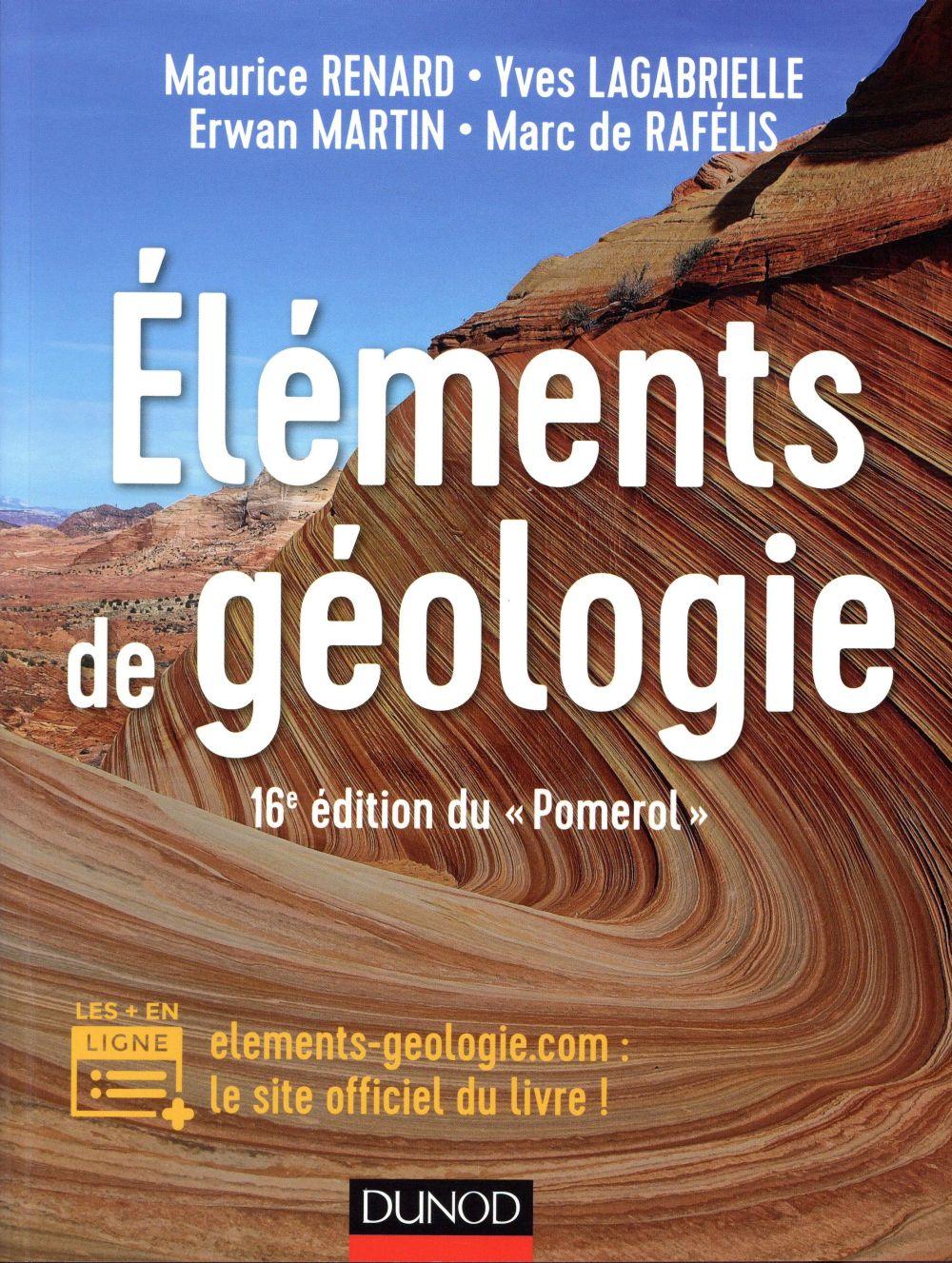 ELEMENTS DE GEOLOGIE   16E EDITION DU