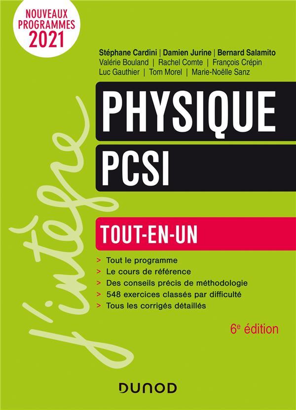 PHYSIQUE PCSI  -  TOUT-EN-UN (6E EDITION)  MOREL, TOM  DUNOD
