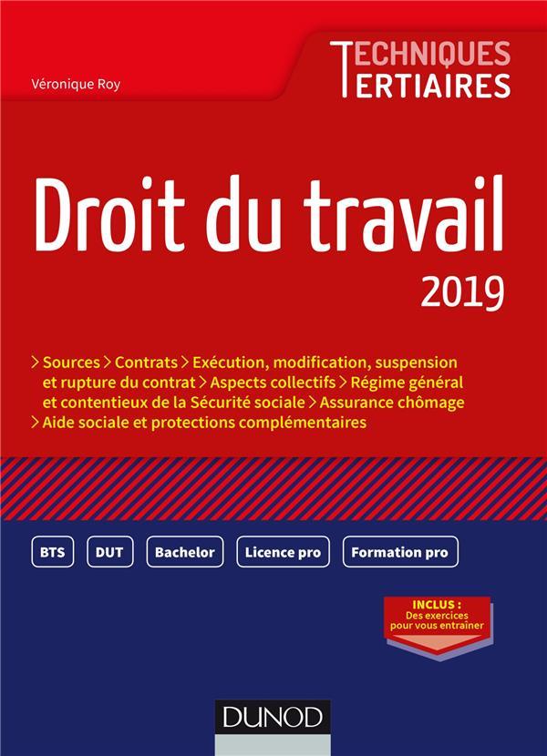 DROIT DU TRAVAIL 2019 ROY VERONIQUE DUNOD