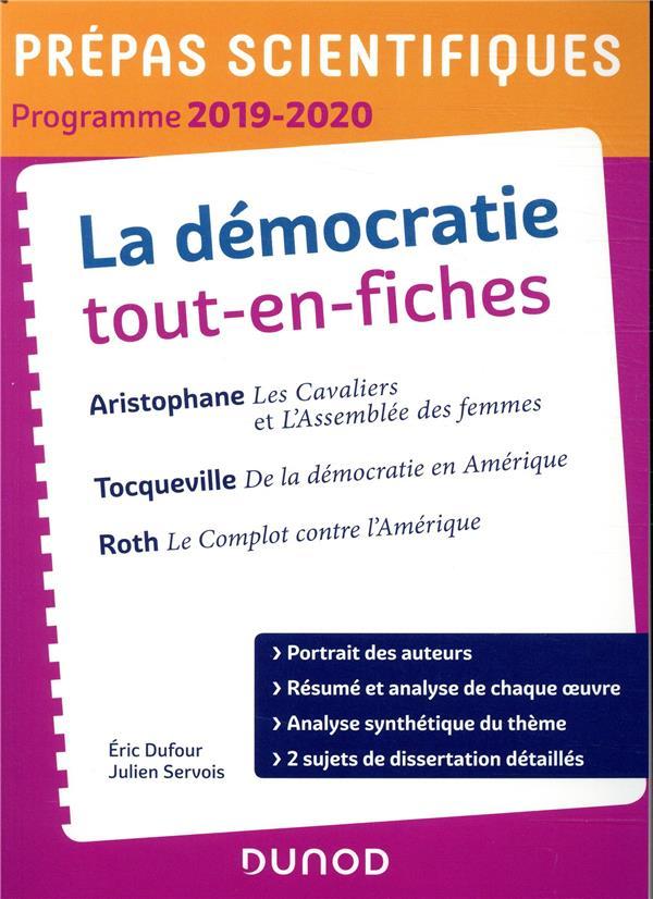 - LA DEMOCRATIE TOUT-EN-FICHES - PREPAS SCIENTIFIQUES - PROGRAMME 2019-2020