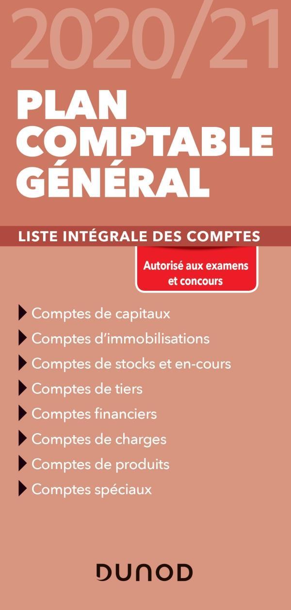 PLAN COMPTABLE GENERAL     LISTE INTEGRALE DES COMPTES (EDITION 20202021)