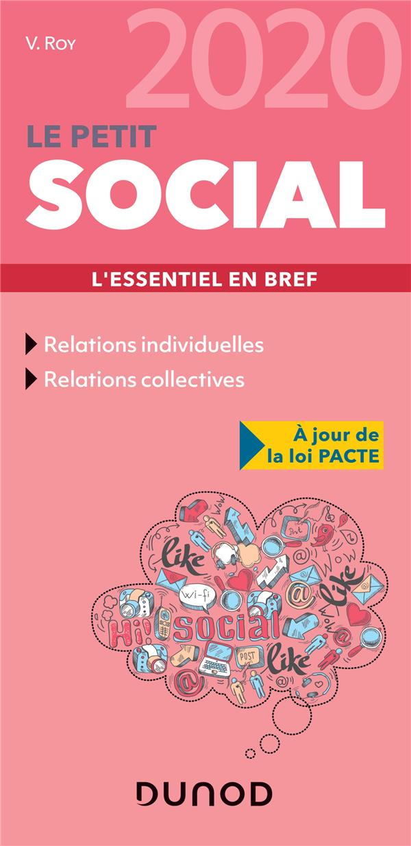 LE PETIT SOCIAL  -  L'ESSENTIEL EN BREF (EDITION 2020)  ROY, VERONIQUE DUNOD
