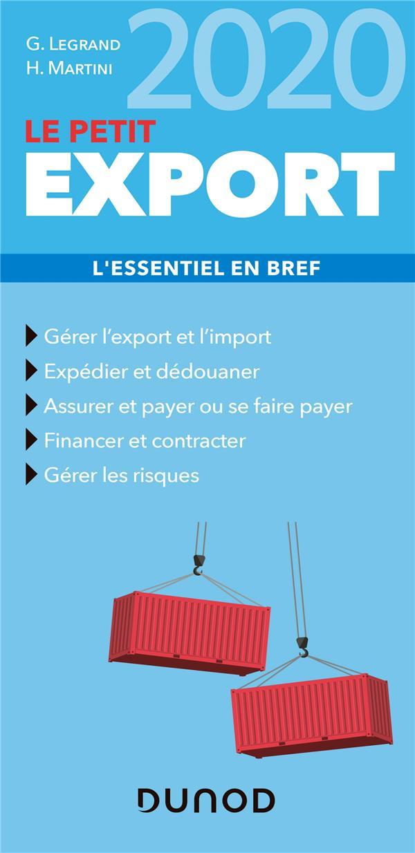 LE PETIT EXPORT  -  L'ESSENTIEL EN BREF (EDITION 2020)