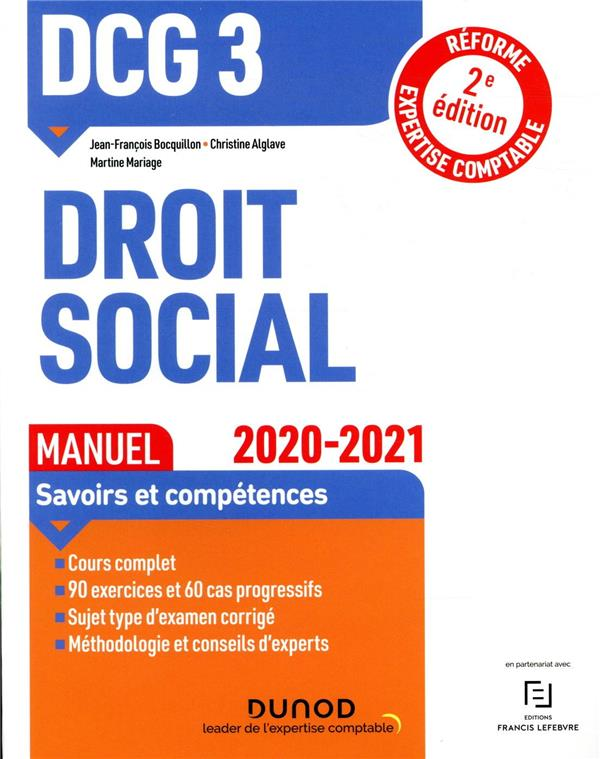 DCG 3  -  DROIT SOCIAL  -  MANUEL (EDITION 20202021)