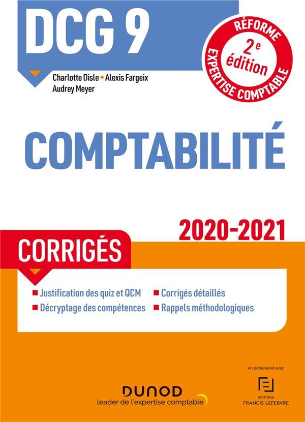 DCG 9  -  COMPTABILITE  -  CORRIGES (EDITION 20202021)