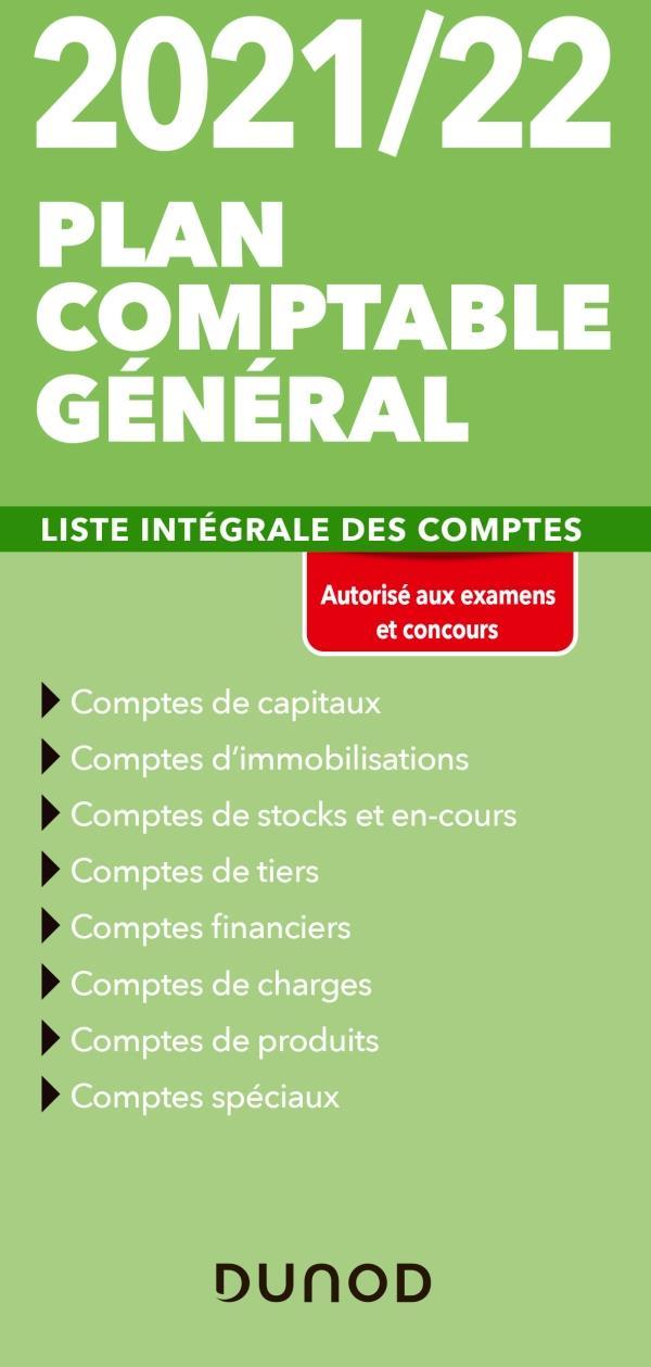 PLAN COMPTABLE GENERAL  -  LISTE INTEGRALE DES COMPTES (EDITION 20212022)