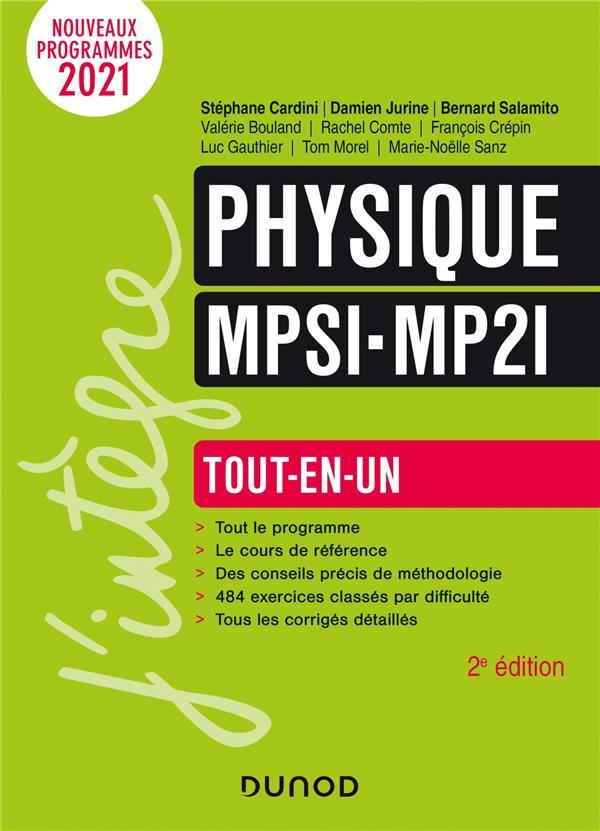 PHYSIQUE MPSI-MP2I -  TOUT-EN-UN (2E EDITION)  COMTE, RACHEL  DUNOD