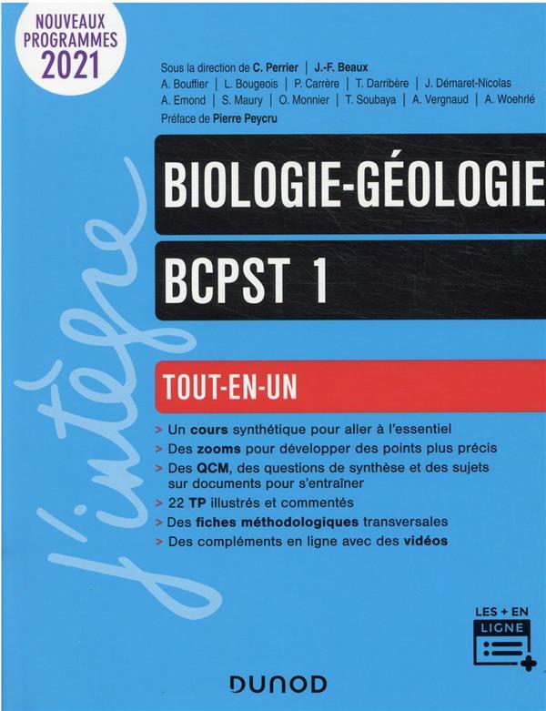 BIOLOGIE-GEOLOGIE  -  BCPST 1RE ANNEE  -  TOUT-EN-UN WOERHLE/MONNIER DUNOD