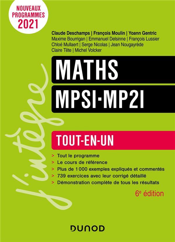 MATHS MPSI-MP2I - 6E ED.- TOUT-EN-UN