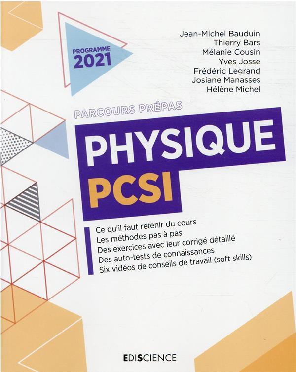 PHYSIQUE PCSI  JOSSE, YVES  DUNOD
