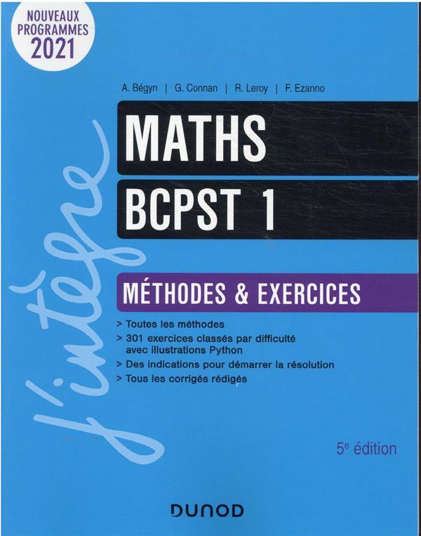 MATHS BCPST 1 : METHODES ET EXERCICES (5E EDITION)
