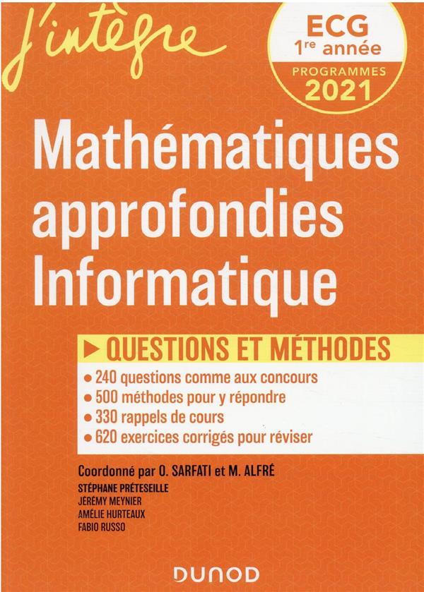 ECG 1 : MATHEMATIQUES APPROFONDIES  -  QUESTIONS ET METHODES