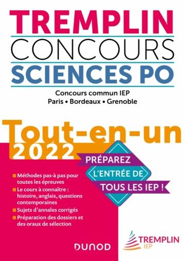 TREMPLIN CONCOURS SCIENCES PO TOUT-EN-UN 2022 - CONCOURS COMMUN IEP, PARIS, BORDEAUX, GRENOBLE VANDEPITTE, FLORENT DUNOD