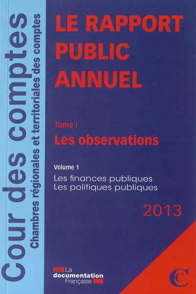 Le rapport public annuel 2013