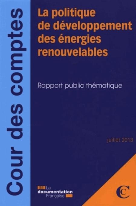 La politique de développement des énergies renouvelables