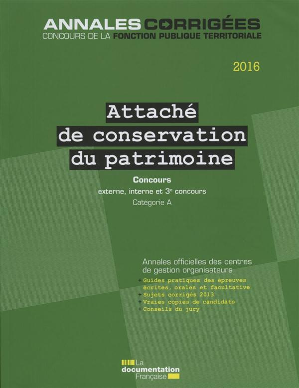 ATTACHE DE CONSERVATION DU PAT