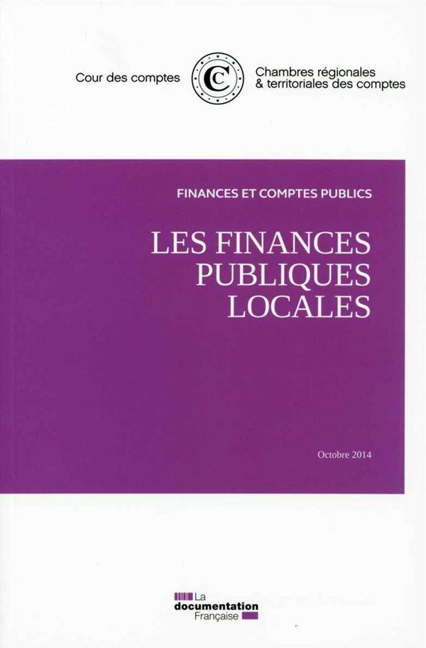 LES FINANCES PUBLIQUES LOCALES OCTOBRE 2014