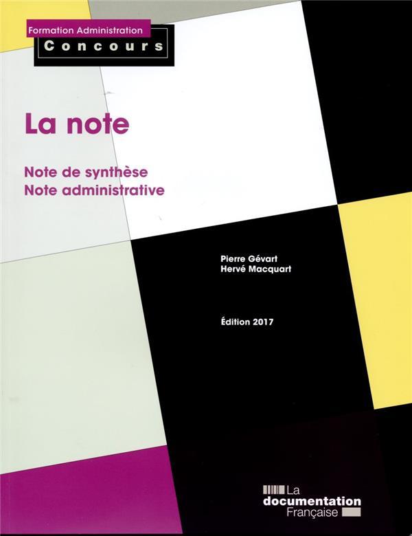 LA NOTE - EDITION 2017    COLL
