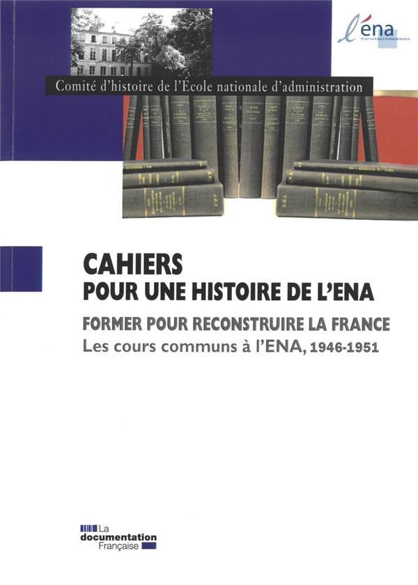COURS COMMUNS A L'ENA 1946-1951