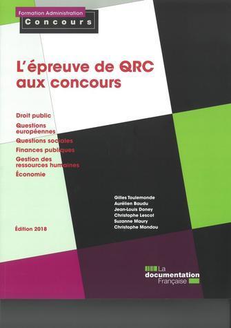 L'EPREUVE DE QRC AUX CONCOURS