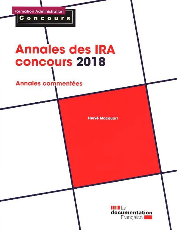 ANNALES DES IRA CONCOURS 2018