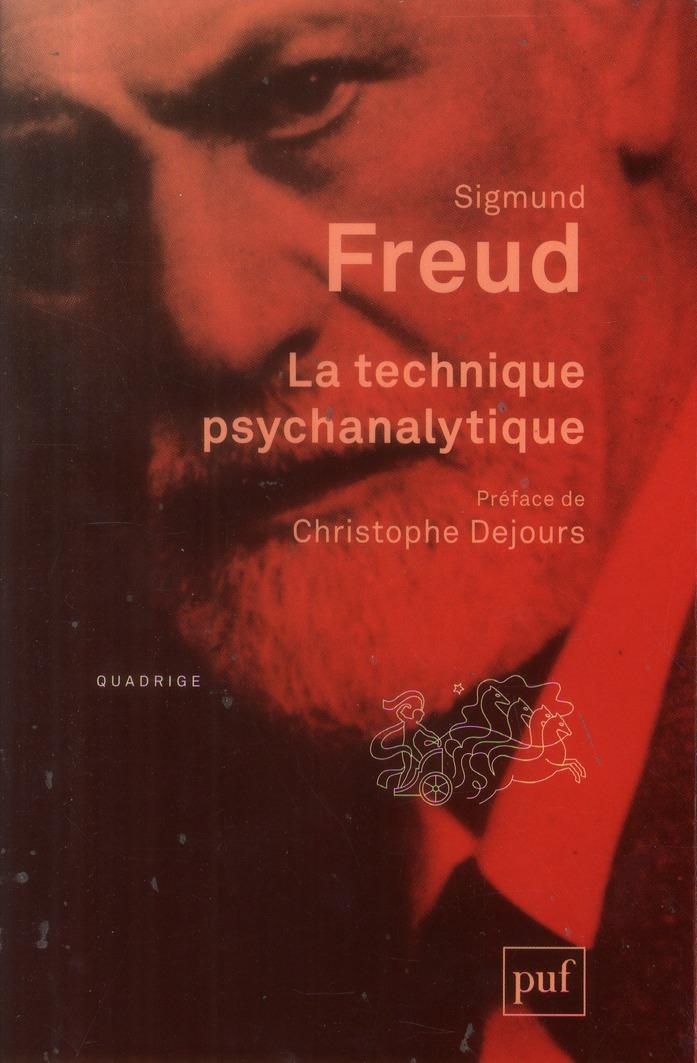 LA TECHNIQUE PSYCHANALYTIQUE (
