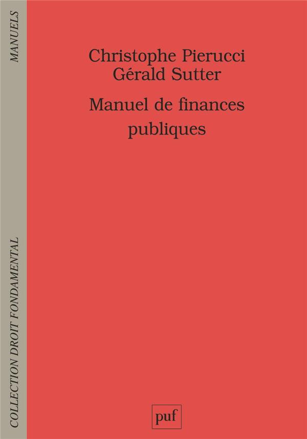 MANUEL DE FINANCES PUBLIQUES