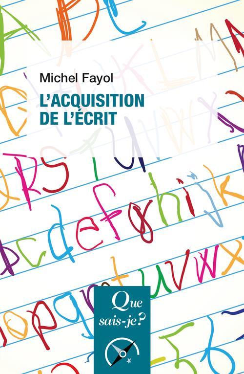 L'ACQUISITION DE L'ECRIT