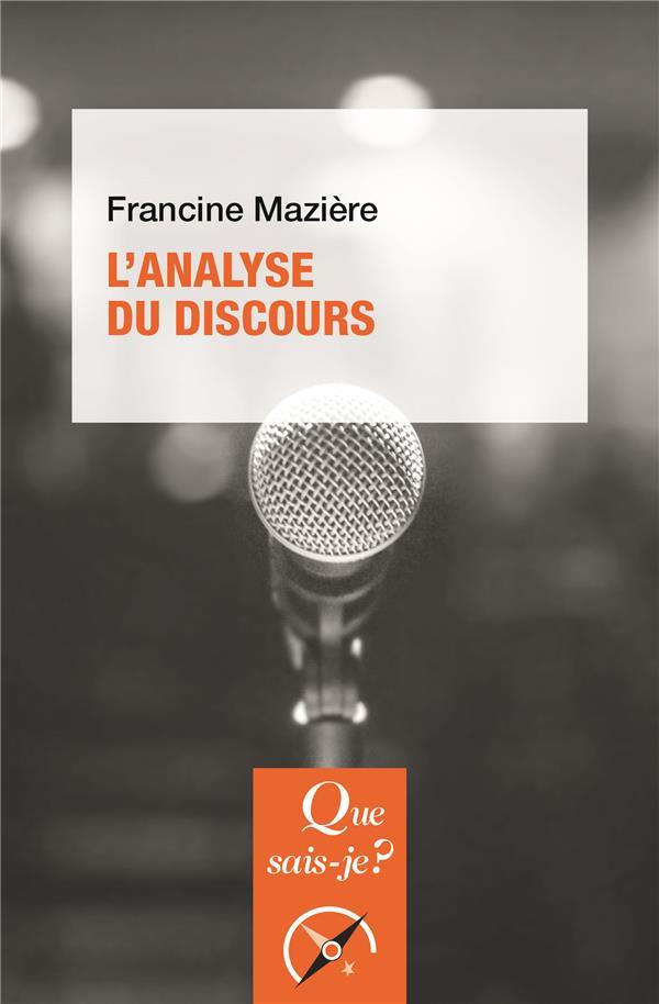 L'ANALYSE DU DISCOURS (3E EDITION)
