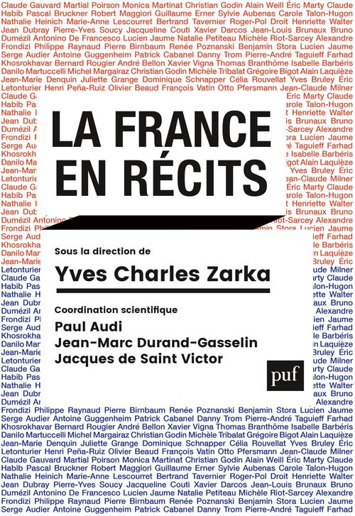 LA FRANCE EN RECITS ZARKA YVES CHARLES PUF